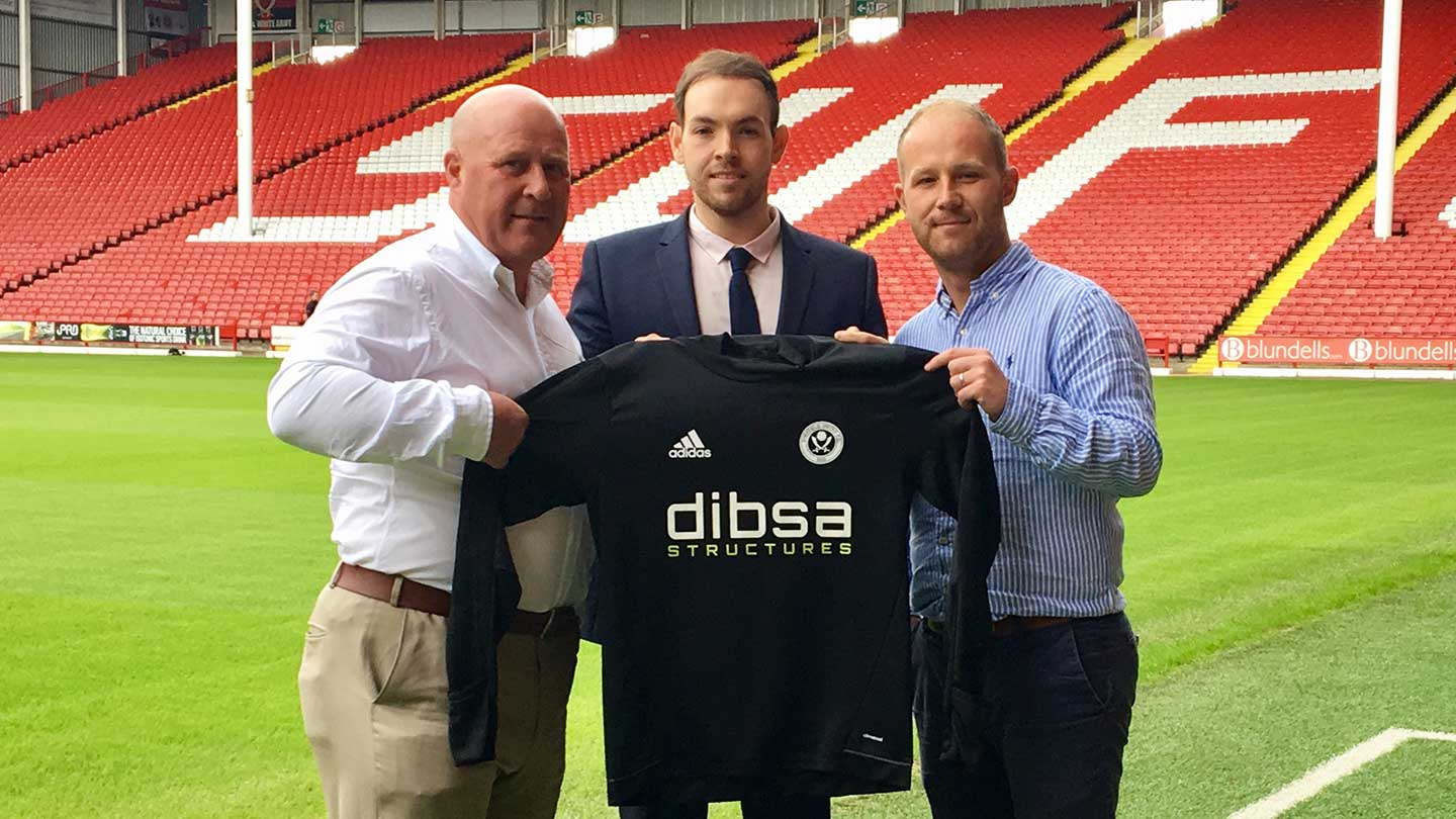 DSM Ltd building envelope contractor & Dibsa announce that we are now an official club partner of Sheffield United FC